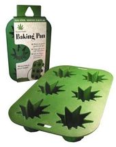 Stonerware - Marijuana Leaf Shaped Cupcake Tray