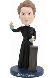 Marie Curie Bobblehead with Glow-In-The-Dark