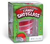 Peppermint Striped Candy - Shot Glass