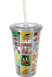 Loony Tunes - Characters Grid 16 oz. Plastic Cold