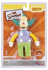 "The Simpsons - Krusty the Clown 6"" Bendable Figure"