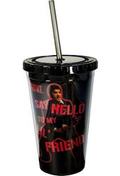 Scarface - 16 oz. Plastic Cold Cup w/Lid & Straw