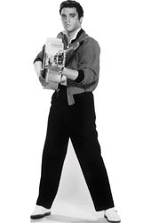 Elvis Presley - Black & White Pointing Guitar -