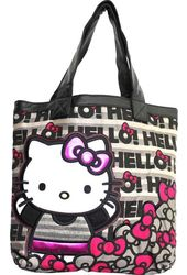Hello Kitty - Bow on Letters - Canvas Tote Bag