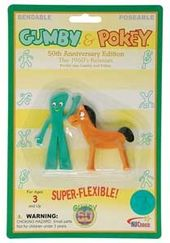 Gumby - Gumby & Pokey - Retro - Mini Bendable 3""