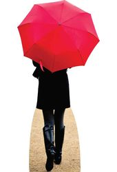 Paris Red Umbrella - Cardboard Cutout