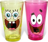 Sponge Bob - 2 Piece 16 oz. Colored Pub Glass Set