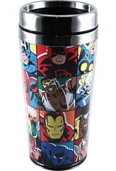 Marvel Comics - Fun Character Grid 16oz Curved
