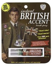 Breath Spray - Instant British Accent Breath Spray
