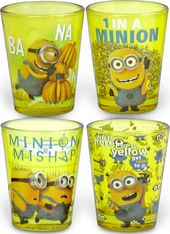 Despicable Me - Minions 4pc Colored Shot Glass Set