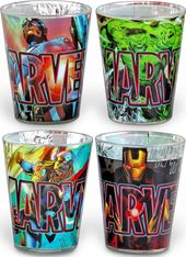 Marvel Comics - Avengers - Superheroes 4pc Clear