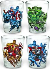 Marvel Comics - Avengers - 4 pc. Clear Shot Glass