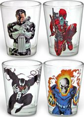 Marvel Comics - Villains - 4 pc. Clear Shot Glass