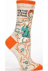 My Cat Is Cool As Fuck - Women's Crew Socks