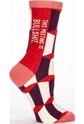 This Meeting Is Bullshit - Women's Crew Socks