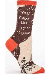 You Can Do It -- Coffee - Women's Crew Socks