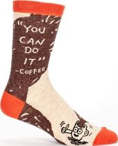 You Can Do It -- Coffee - Men's Crew Socks
