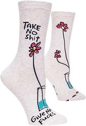 Take No Shit, Give No Fucks - Women's Crew Socks