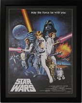 Star Wars - Episode 4 Movie Poster Framed Under