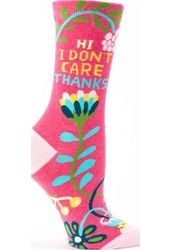 Hi. I Don't Care. - Women's Crew Socks
