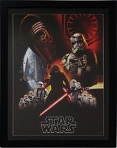 Star Wars - Episode 7 Villain Group Poster Framed