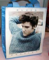 Elvis Presley - Blue Sweater - Mini Tote Bag