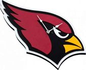 Football - Arizona Cardinals - 3D Foam Wall Clock