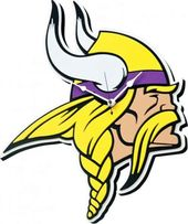 Football - Minnesota Vikings Head - 3D Foam Wall