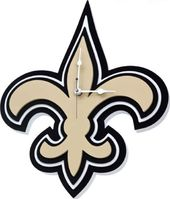 Football - New Orleans Saints - 3D Foam Wall Clock