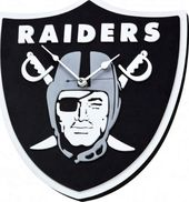 Football - Oakland Raiders - 3D Foam Wall Clock