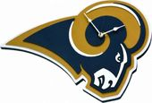 Football - Los Angeles Rams - 3D Foam Wall Clock