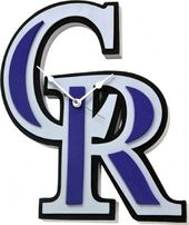 Colorado Rockies - 3D Foam Wall Clock