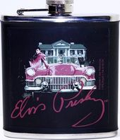 Elvis Presley - Pink Cadillac - Leather Flask