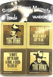 John Wayne - 4 Piece Set - Square Magnet
