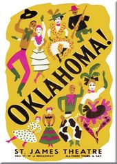 "Oklahoma - Yellow Photo Magnet 2 1/2"" x 3 1/2"""