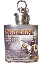 John Wayne - Courage - Mini Flask Keychain