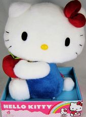 Hello Kitty - Blue Outfit Apple - Plush