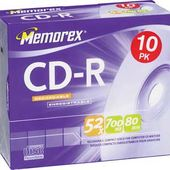 Memorex 52x Write-Once CD-R (10 Pack With Jewel