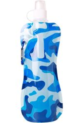Disposable Drinking Flask - 16 oz. Camo Blue