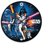 "Star Wars - 13.5"" Wood Wall Clock"