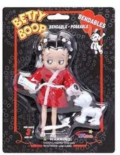 "Betty Boop - 5"" Bendable Figure: Bathrobe with Dog"