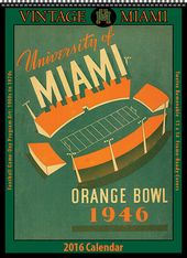 Miami Hurricanes - 2016 Vintage Football Calendar