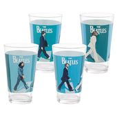 The Beatles - Abbey Road Pint Glass 4pc Set