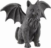 Gothic Winged-Cat Gargoyle Statue