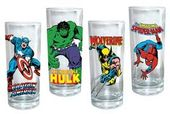 Marvel Comics - Heroes: 4 Piece 10 oz. Glass Set