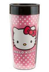 Hello Kitty - 16 oz. Pink Plastic Travel Mug