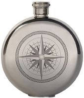 Compass Canteen - 3 oz. Stainless Steel Flask