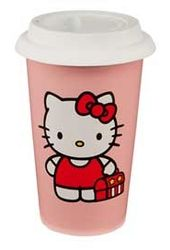 Hello Kitty - 12 oz. Double Wall Ceramic Travel