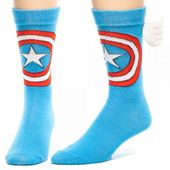 Marvel Comics - Captain America Crew Socks with