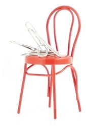 Desktop Fun - Red Chair Magnetic Paper Clip Holder